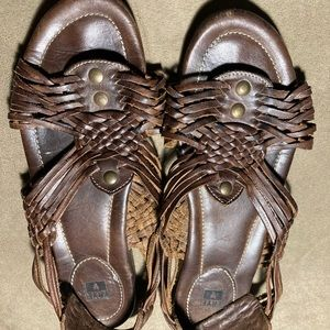 Frye brown leather sandals